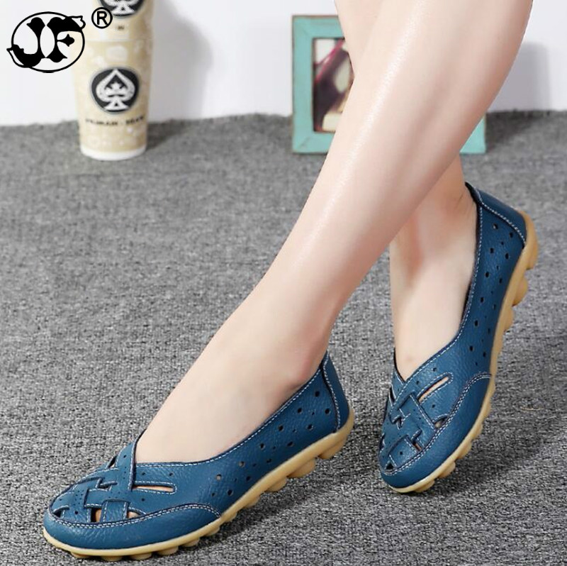 Women Shoes 2018 New Arrival Flat Shoes Women Hollow Loafer Ballerina Flats Casual Female Shoes Plus