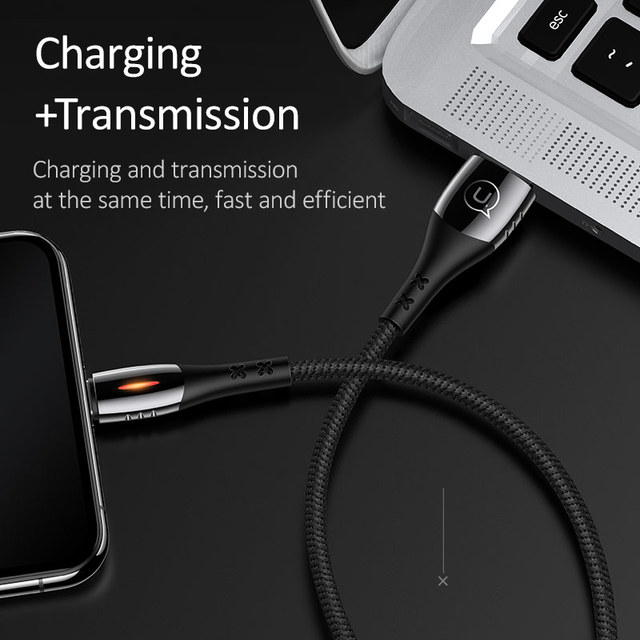 APPLE Smart Auto Off Fast Charging Lightning Cable for Apple Devices iPad iPhone X XS 8 7 6 6S