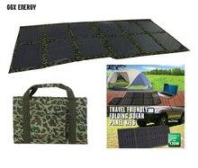 GGX ENERGY Folding Kits 120 watt Monocrystalline Solar Panel Solar Cell Solar Powered 12V Battery Charger for 4×4 and Camping