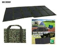 GGX ENERGY Folding Kits 120 watt Monocrystalline Solar Panel Solar Cell Solar Powered 12V Battery Charger for 4x4 and Camping
