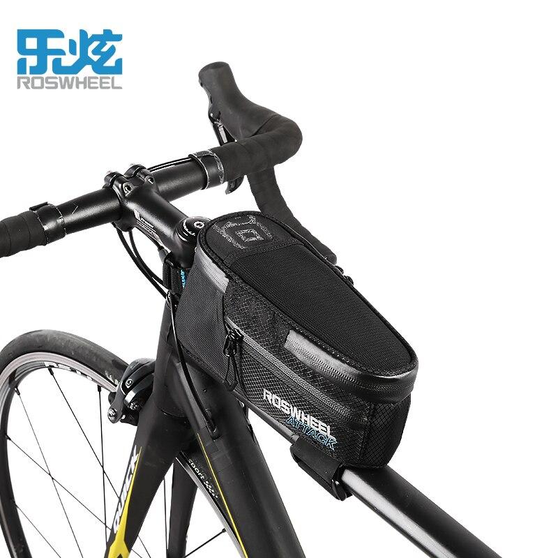 ROSWHEEL ATTACK 2017 100% Waterproof Bicycle Bag Front Beam Frame Tube MTB Road Foldig Bike Phone Cycling Accessories