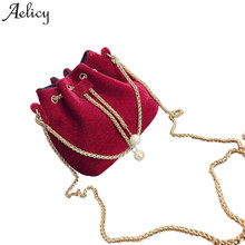 Aelicy dropshipping new 2018 hot SALE Women Fashion Solid Handbag font b Drawstring b font Shoulder