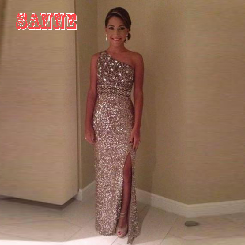 Aliexpress.com : Buy Sparkly Glitter Prom Party Dresses 2016 Sequin ...