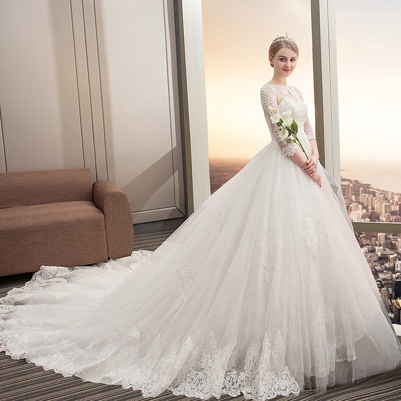 Vestido de Noiva Skor Bollkledda Bröllopsklänningar 2018 Tulle- & - Bröllopsklänningar - Foto 5