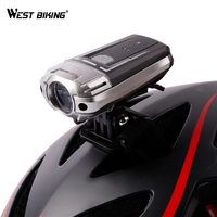WEST BIKING USB Recharge Battery Headlight For Helmet Bicycle Handlebar Bicicleta Lights Super Bright Helmet Safety