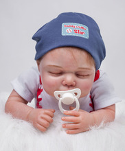 "22 inch Collectible Baby Boy Doll Lifelike Newborn Reborn Pacifier Doll in ""Daddy's Little Star"" Baby Clothes"