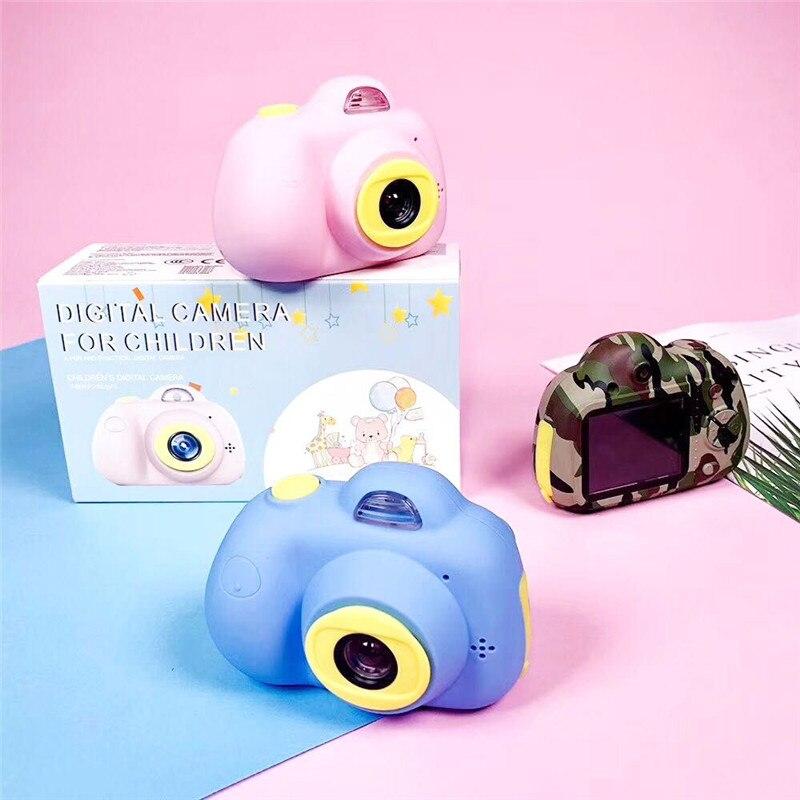 Jouet appareil photo numérique pour enfants dessin animé enfants mignons ABS mini caméra de sport jouets avec autocollants faciles à poser cadeau d'anniversaire créatif