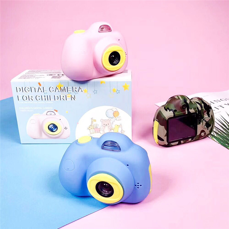 Toy Camera Digital For Kids Cartoon Cute Children ABS Mini Sports Camera Toys With DIY Stickers Birthday Gift Creative