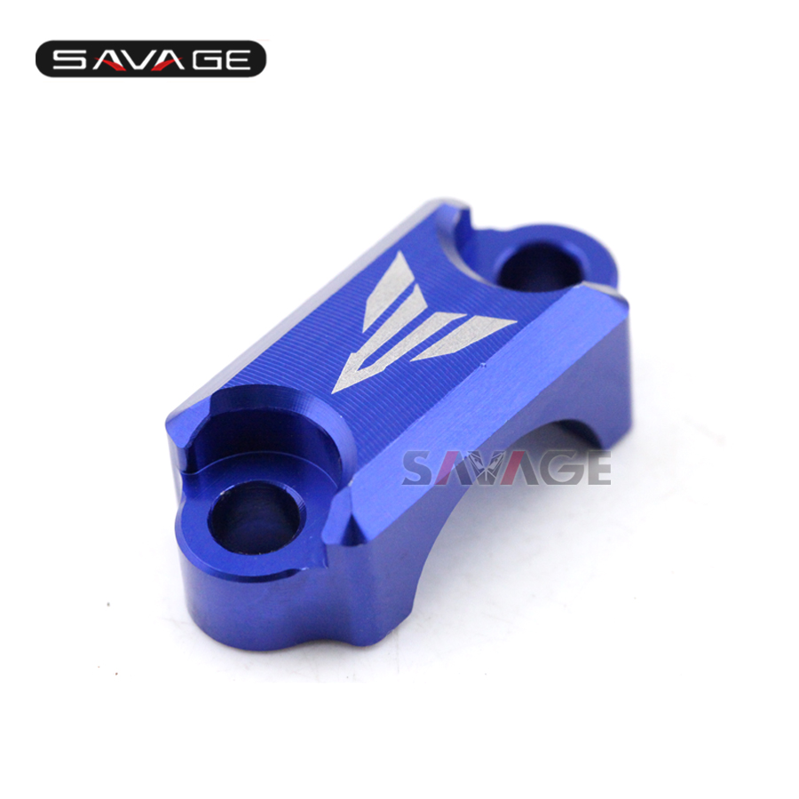 For YAMAHA MT-09 FZ-09 FJ-09 MT09 Tracer 2014-2016 Motorcycle CNC Brake Master Cylinder Clamp Handlebar Bar Clamp Cover Blue motorcycle accessories brake line clamp red for yamaha t max 530 tmax 500 mt 01 mt 07 mt 09 mt 09 tracer r1 r6 r125