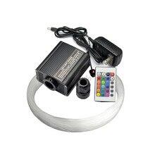 RGBW светодиодный 16 Вт волоконно-оптический светильник драйвер двигателя с 24-клавишным контроллером+ 300 шт 0,75 мм 2 м оптоволоконный кабель