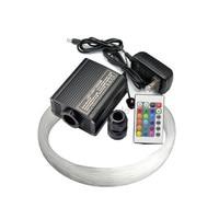 RGBW LED 16W fiber optic light engine driver with 24key controller + 300PCS 0.75mm 2m optical fiber cable free shipping