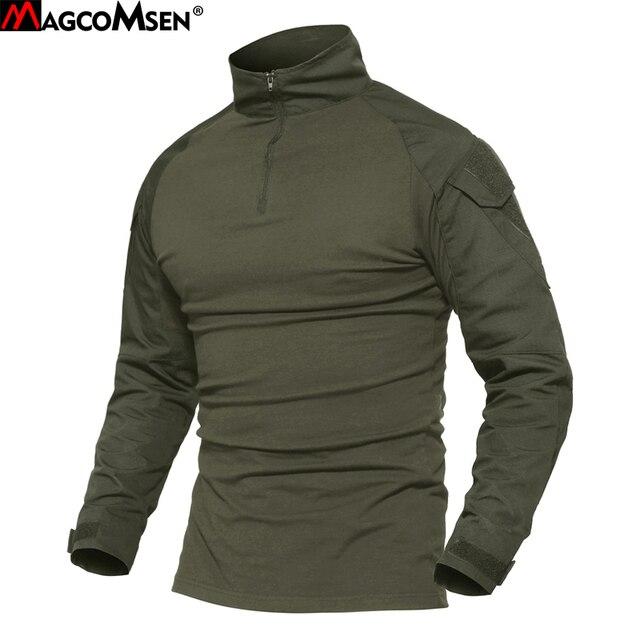 MAGCOMSEN Combat Рубашка для мужчин с длинным рукавом Военная униформа Стиль Тактический футболки для женщин армии США комплексный Камуфляж для страйкбола специальные SWAT футболк