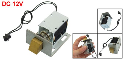 1240L-12E07 DC 12V 20.6W 5mm Strock 1kg Holding Open Frame Type Door Lock Solenoid Electromagnet dc 12v open frame type electronic door lock 12v 2a for cabinet locks solenoid locks drawer