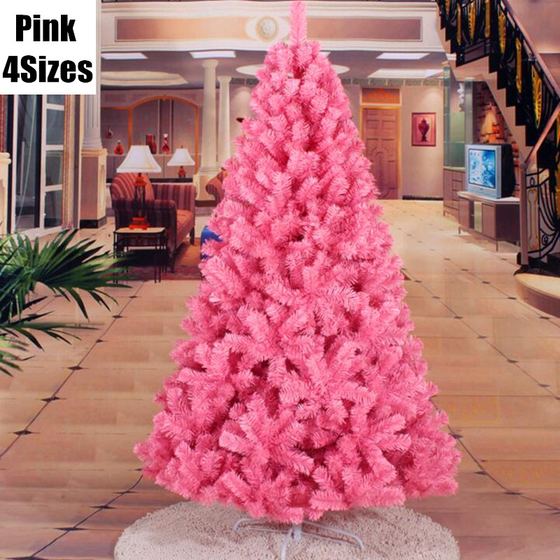 4 Sizes Pink Christmas Tree Christmas Party Decoration For Home Christmas Decorations Supplies Festival Party Ornament MCC294