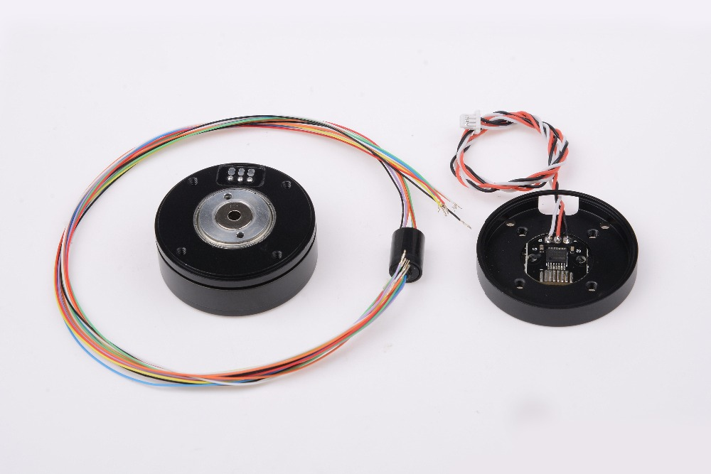 цена GB3505 gimbal motor with AS5048a encorder and slip ring for alexmos basecam 32bit gimbal controller