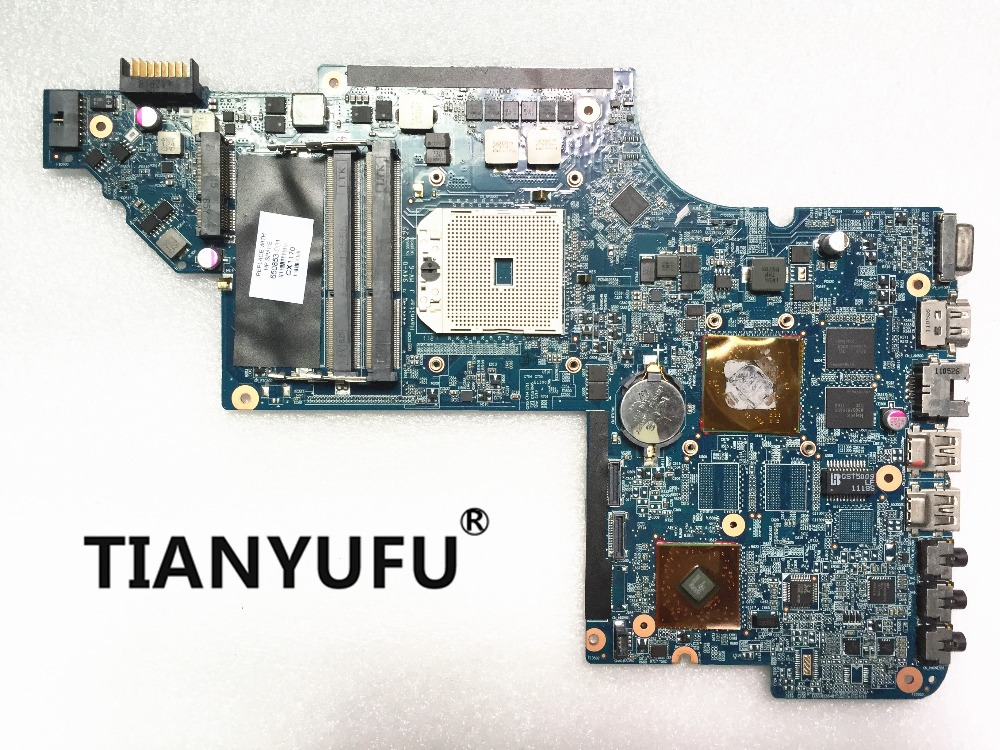 Free Shipping for HP Pavilion DV6 DV6Z DV6 6000 motherboard 650853 001 DDR3 Laptop Motherboard Mainboard