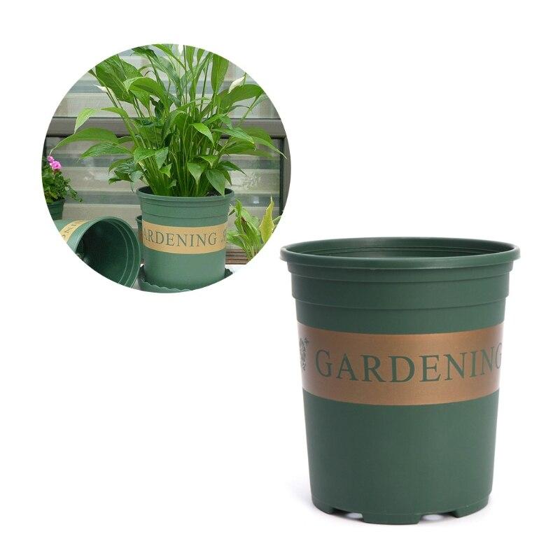 1.5 Gallon Plastic Round Nursery Pot Pack Flower Vegetable