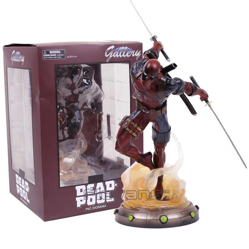 Diament wybierz zabawki Marvel Gallery Deadpool statua pcv figurka-Model kolekcjonerski zabawka 35cm