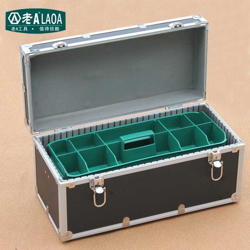 LAOA Aluminium alloy Toolkit Enhanced Portable Tool Box Repair Tool Box Household Storage Box Size 410*210*220mm quicktime toolkit volume one