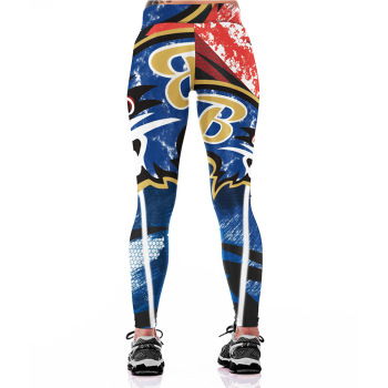 Unisex Football Team Ravens Print Tight Pants Workout Gym Training Running Yoga Sport Fitness Exercise Leggings Dropshipping 1