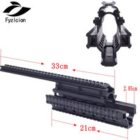 AK47 74 AKs /MNT T228 Hunting Shooting Tactical Quad Rail See through Scope Mount Quad Rails Handguard with Rail Covers
