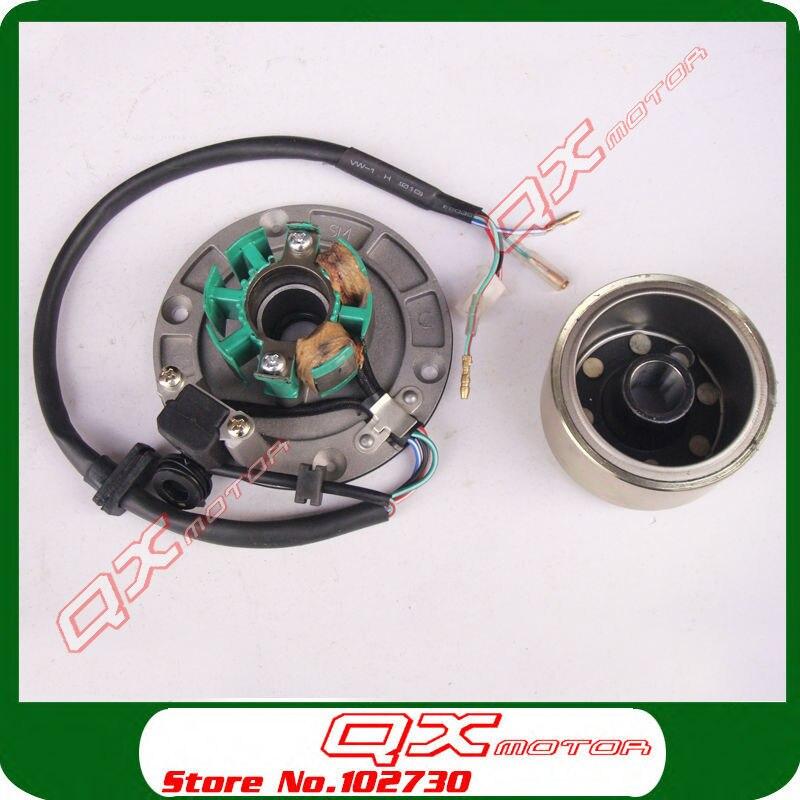 Original Zongshen Magneto Stator Flywheel Rotor kit For ZS150 155z 160cc  Engine Dirt Pit Bike Monkey Bike parts Free shipping