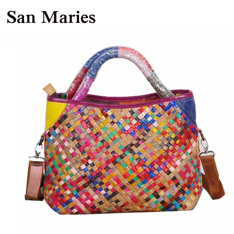 BEST SELLING Fantastic Woven Bag Luxury Lady Handbags Large Tote Bags Knitting Sheepskin Shoulder Bags