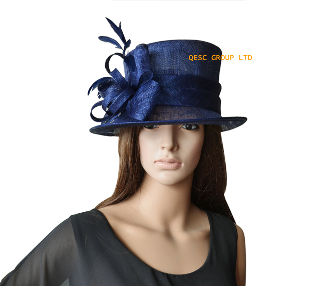 Whole New 4 Colours Navy Blue Formal Dress Hat Sinamay Fascinator For Kentucky Derby Wedding Free Shipping In Fedoras From Women S Clothing