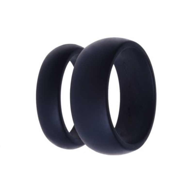 Fashion 3pcs Rubber Silicone Finger Ring Gray/Black/Blue Size 5-13 Flexible Hypoallergenic Crossfit Wedding Engagement 7B0002