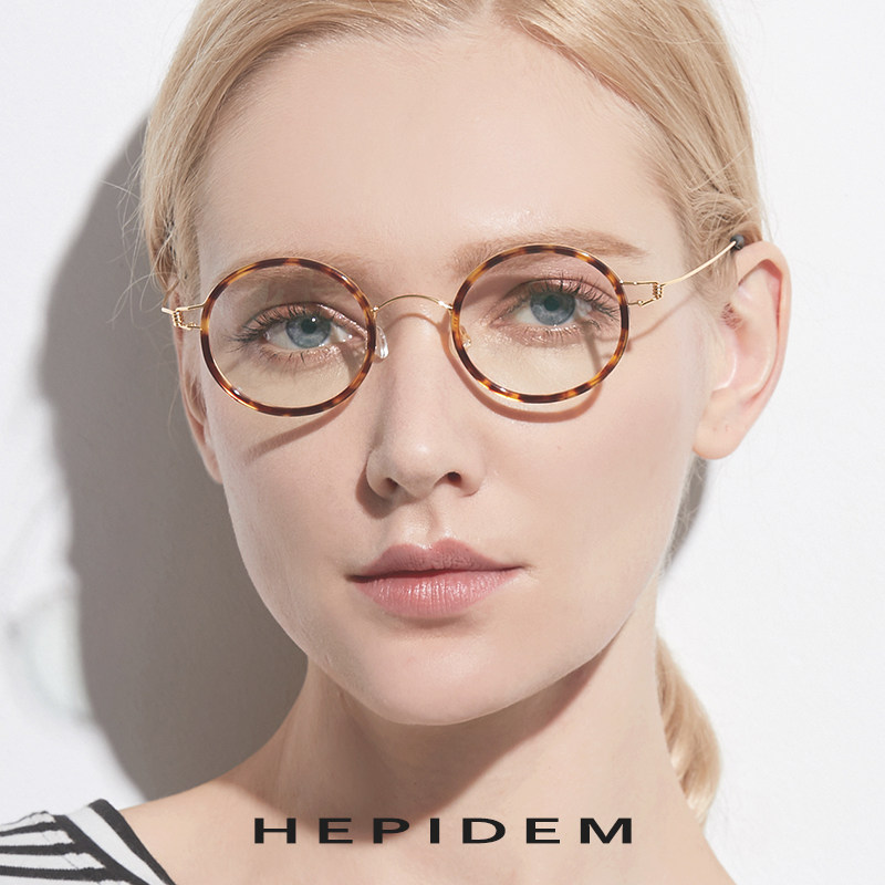 338f2afb4e4 Titanium Alloy Optical Glasses Frame Men Prescription Eyeglasses Ultralight  Women Round Korean Designer Myopia Screwless Eyewear