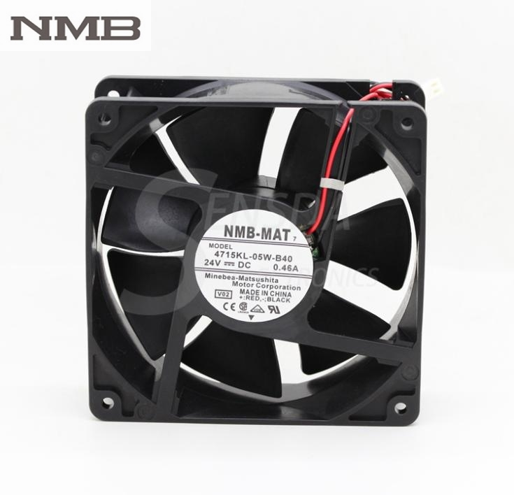 NMB Blowers 4715KL-05W-B40 12038 12cm 120mm DC 24V 0.46A Axial industrial server computer cooling fans delta 12038 120mm 12cm ffb1212vhe dc 12v 1 5a 24w 4wire violence server industrial case cooling fans