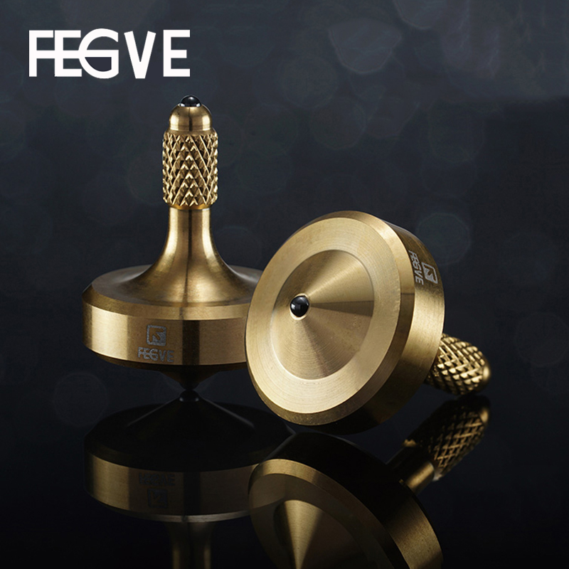 FEGVE Mini Gyro Fidget Spinner Hand Spinners Tainless Steel Metal Ceramic Beads Black Gold Silver Gyro Toy FG35