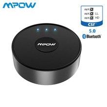 Mpow BH261 Aptx HD Aptx-LL Bluetooth 5,0 беспроводной передатчик аудио AUX адаптер 15 м/50 футов Рабочий диапазон для ТВ никогда не выключается