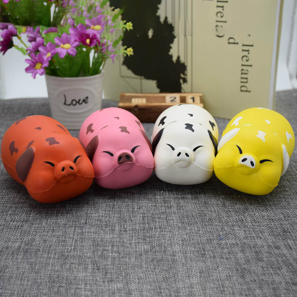 Soft Toy Round Pig Stretchable Squeeze Stress Reliever Animal Toy Gift Anti Stress Toys Color Random