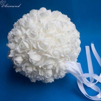 """Decoración de centros de mesa de boda Aisound 11 """"28 cm Bola de flores arreglo artificial y floral Bola de besos boda o fiesta 1 ud."""