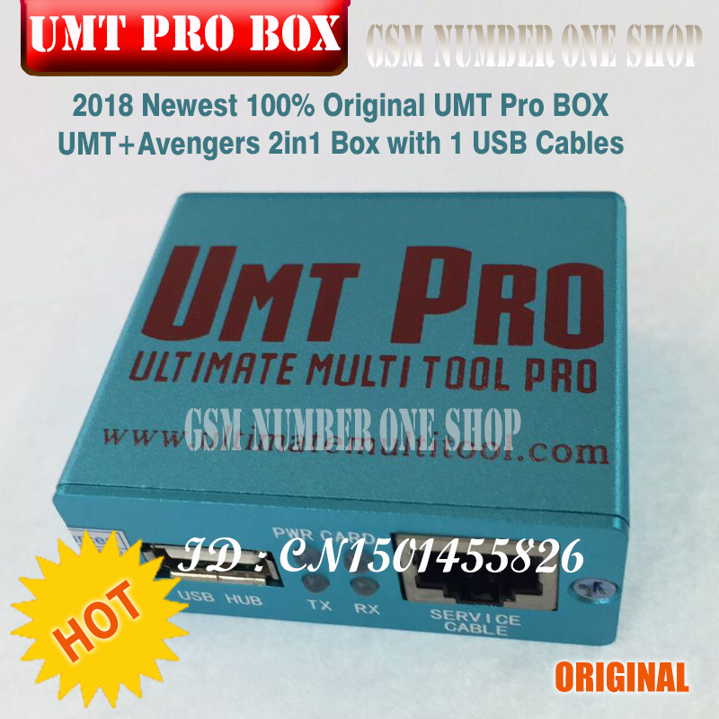 2018 Newest 100% Original UMT Pro BOX UMT+Avengers 2in1 Box With 1 USB  Cables Free Shipping