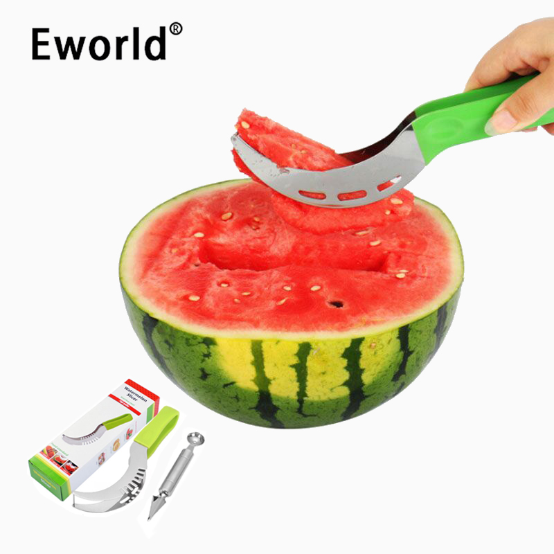 Eworld 2PCS Party Supply Cortador de cortador de sandía de fruta de - Cocina, comedor y bar