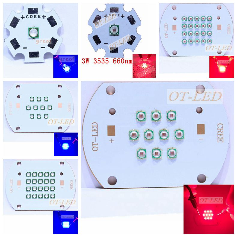 3W 30W 60W 450nm 660nm Plant Grow LED light Epileds Led Emitter Light 660nm deep red 450NM Royal Blue for indoor garden plant