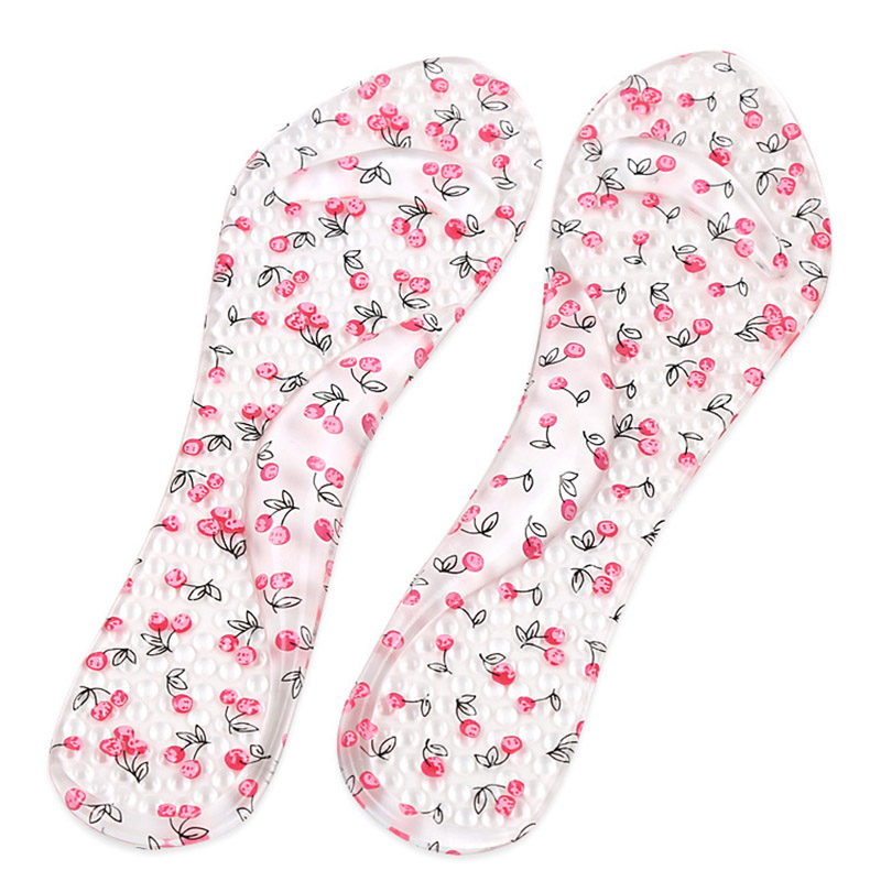 Fashion Women Insoles Silicone Cotton Transparent Orthotic Arch Support Pad High Heeled Shoes Insert Cushion Foot Care Dropshipp