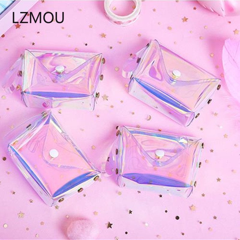 Transparent PVC Coin Purse Baby Souvenirs Wedding Gifts for Guests Bridesmaid Gift Party Favors Back To School Girl Present