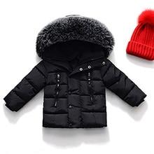 Chłopcy puch kaczy na jesień, dla dziewczyny kurtki zimowe płaszcz dla dzieci ciepłe grube parki z kapturem dla dzieci odzież wierzchnia maluch płaszcz odzież dla dzieci