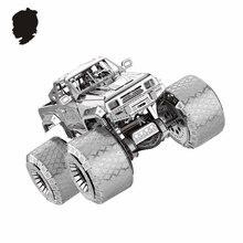 ВНЕДОРОЖНИК АВТОМОБИЛЬ НАНЬЮАНЬ I32206 Металла Сборки Модели 3D Головоломки Супер Большие Шины Развивающихся практический способности Творческие игрушки 3 листов