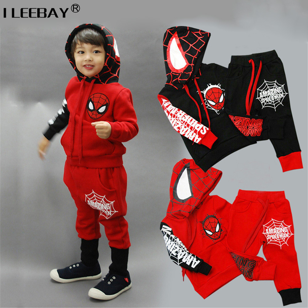 Pants Spring Autumn Kids Sport Tracksuits Baby Boy Clothes Spider-Man Costume Spiderman Suit Boys Clothing Sets Ensemble Garcon spiderman children boys suits clothing baby boy spider man sports set 3 12 years kids 2pcs sets spring autumn clothes tracksuits