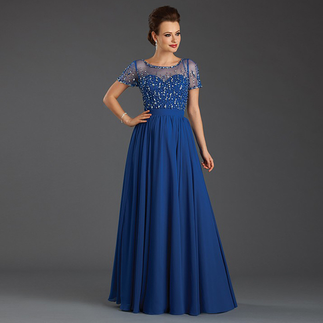 Fashion Mother Of The Bride Dresses Long Satin A Line With Crystals