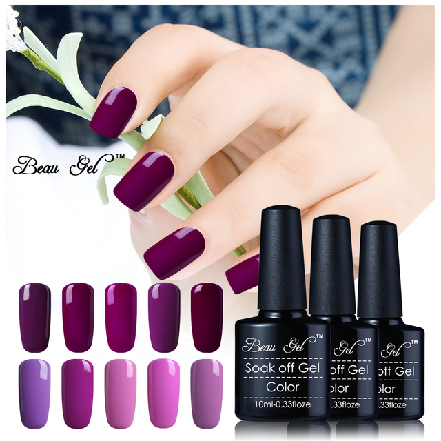hotest beau gel colore viola serie gel polish uv o led curato di