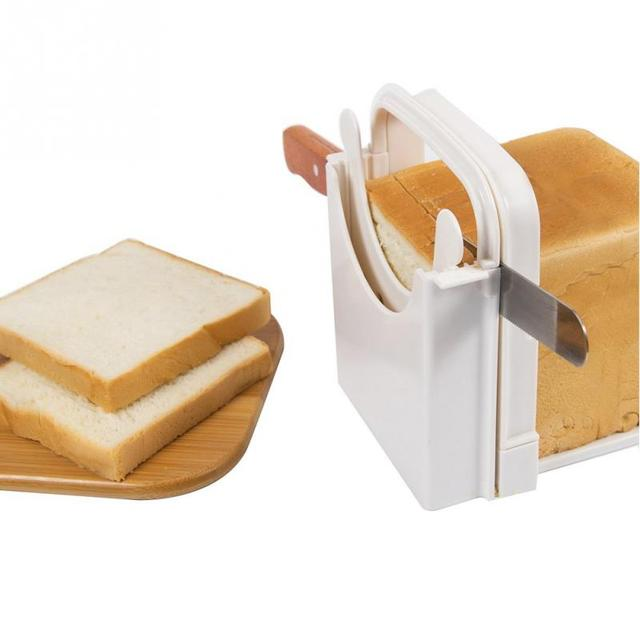 bread slicer toast cutter with cutting guide sandwich maker slicing