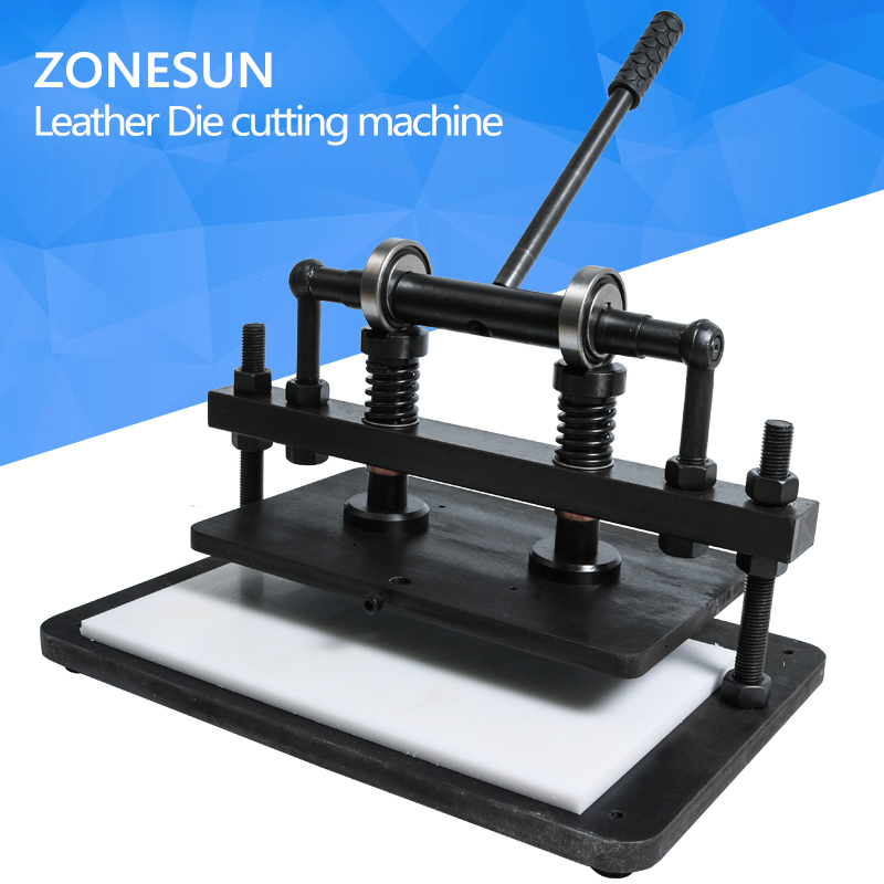 ZONESUN 3622cm DIY backpack handbag Manual leather die cutting machine photo paper PVC/EVA sheet mold cutter tool