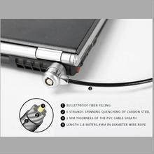 1,8 м кодовый замок для ноутбука совместимый универсальный замок с тросом с 2 клавишами подходит 3*7 мм отверстие замка
