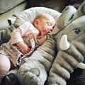 Nuevo estilo del elefante juguetes de peluche almohada sueño del bebé cama del amortiguador de elefante gris paño muñeca de peluche de regalo de cumpleaños de peluche