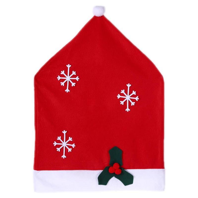 Natale Tovaglia Di Natale Cappello Rosso Copertura Della Sedia Copertura Di Tabella Di Navidad Decorazione Di Buon Natale Decorazione Per La Casa Regalo Ideale Per Tutte Le Occasioni